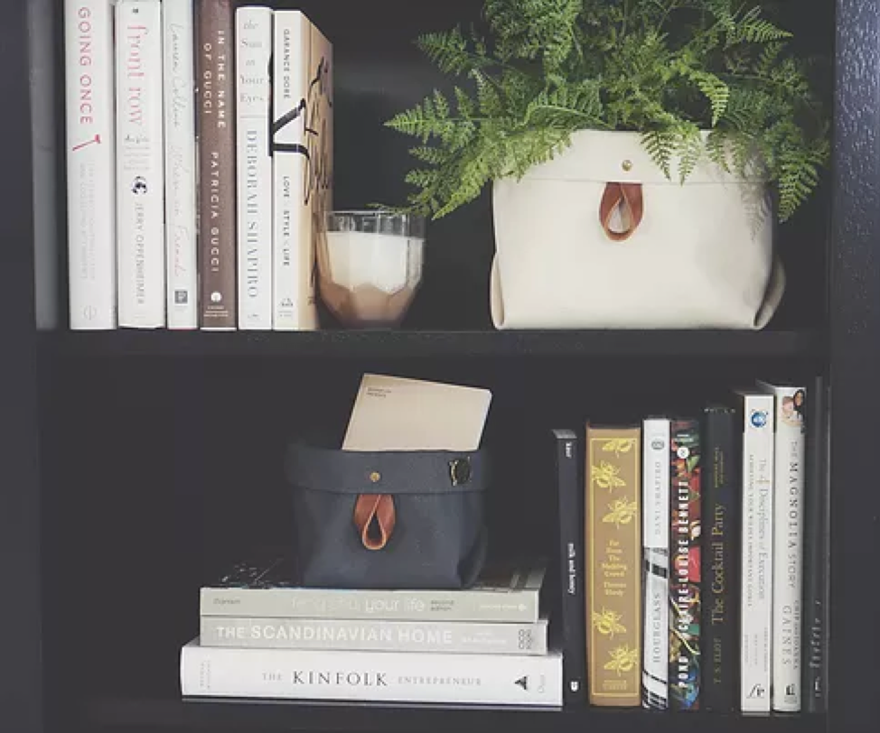 Organizing smaller books can be a challenge at times, so use this to your advantage by selecting a few of your favorites and place in your smaller Binny. This will give height to your shelf and make your books easily accessible.