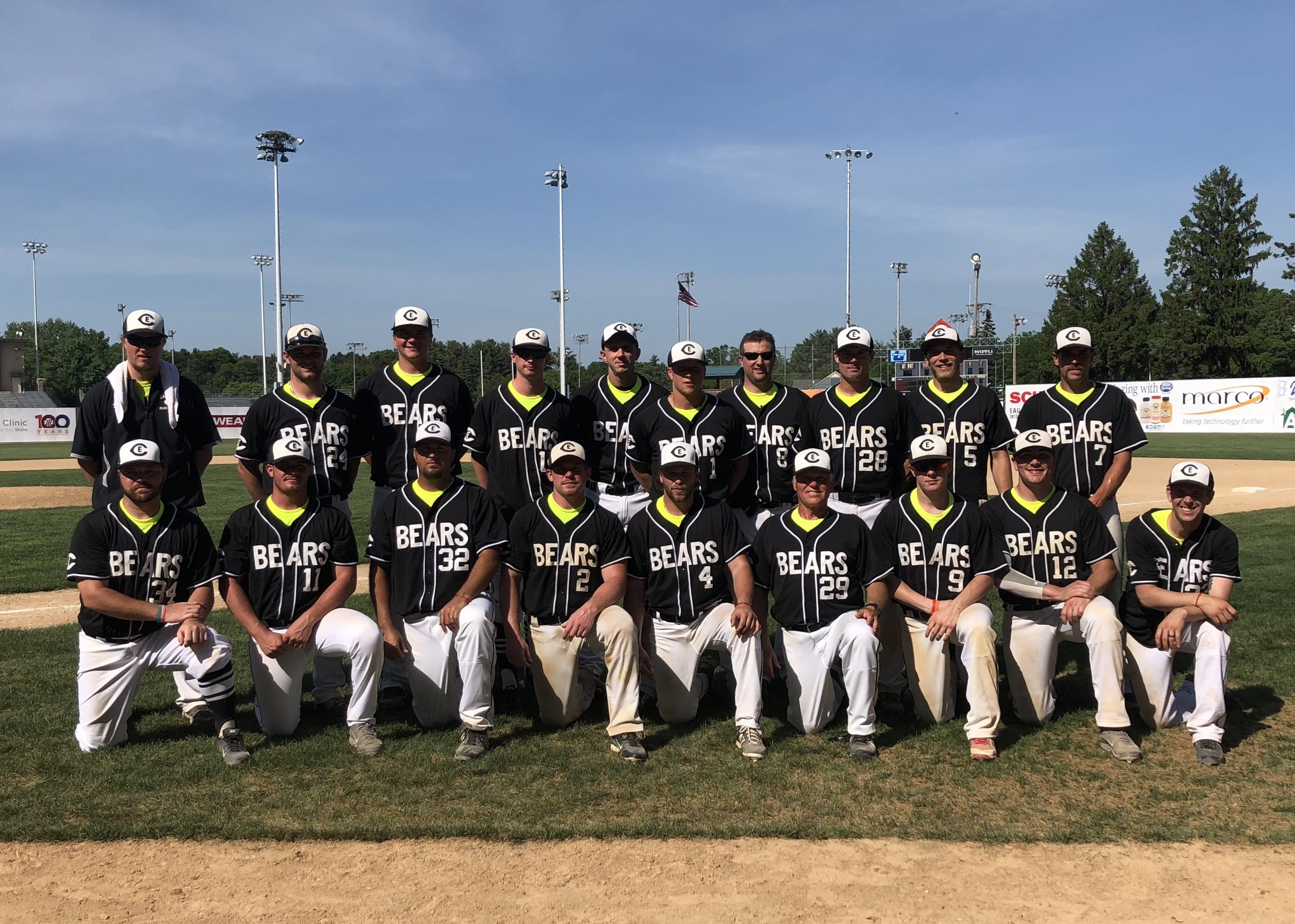 2018 Eau Claire Bears at the 1st Annual Billy Noss Memorial Day Game