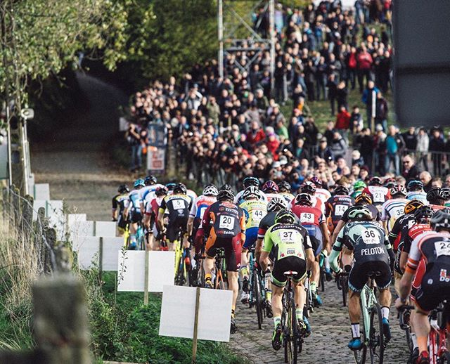 One minute at 660 Watts...that's what it takes to barely achieve mediocrity on the starting Cobbled climb at Koppenbergcross.  Just keep that in mind when they go nuking up that hallowed bump  4 hours into @rondevanvlaanderenofficial . 📷 @cyclephotos / #crossisboss #tbt #veldrijdeordie