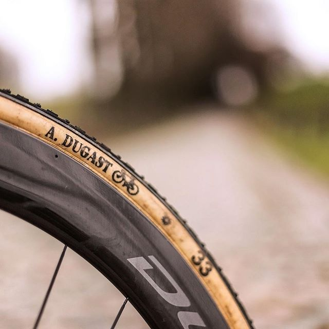 Duggies for Breakfast.  Cobbles for Brunch.  @a_dugast Typhoons served up on some Dura Ace Deep Dishes  #crossiscoming 📷  @arrieredupeloton / #veldrijdeordie #handmadeinholland  #shimanoduraace