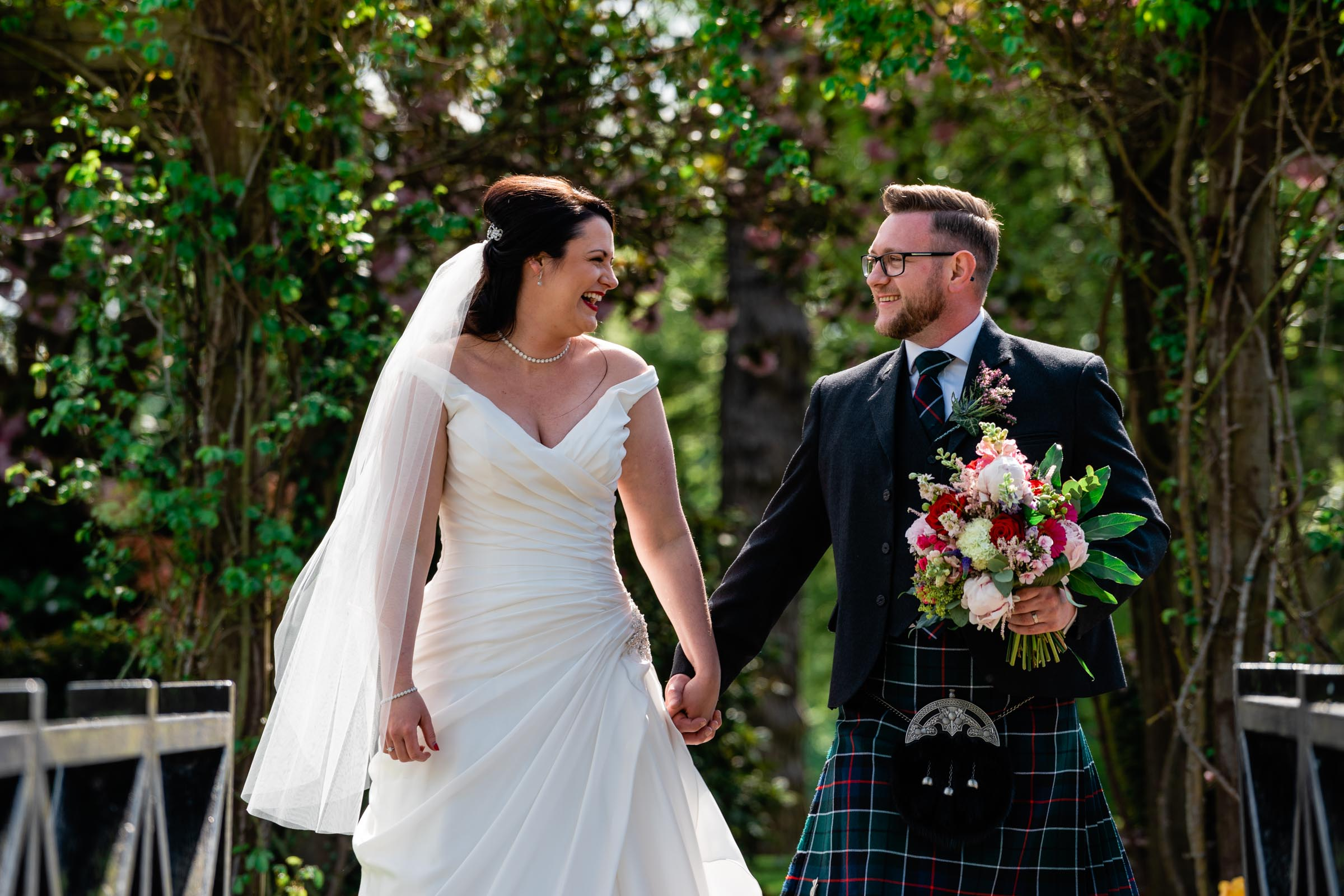 David was fantastic at our wedding! He was professional and put us completely at ease (even in my moment of anxious nerves just before the ceremony!). Our guests all commented on how lovely he was and always up for a laugh (we don't take ourselves too seriously!) We definitely can't recommend him enough! - Claire & Barry, May 2018