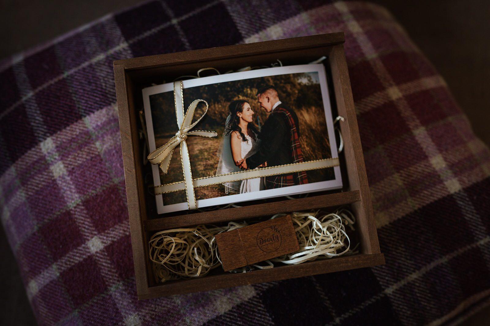 glasgow Edinburgh wedding photography prints usb box