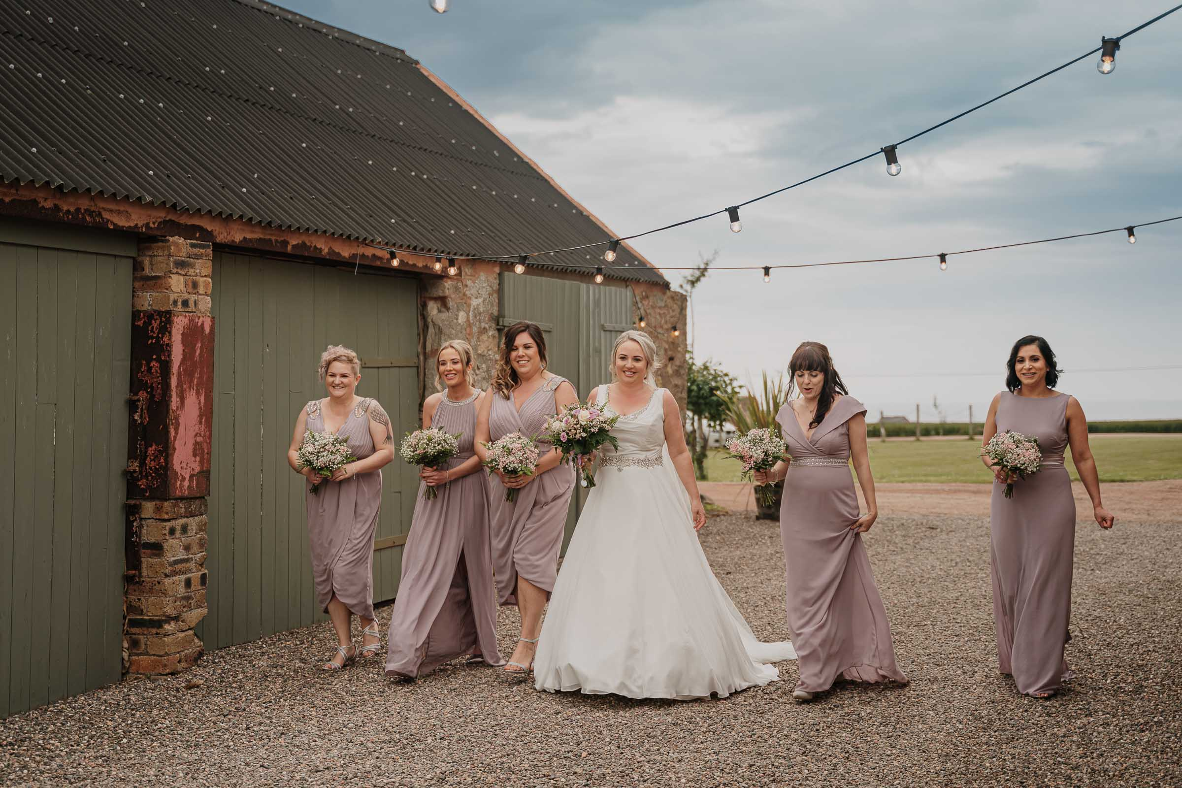 the cow shed wedding photo