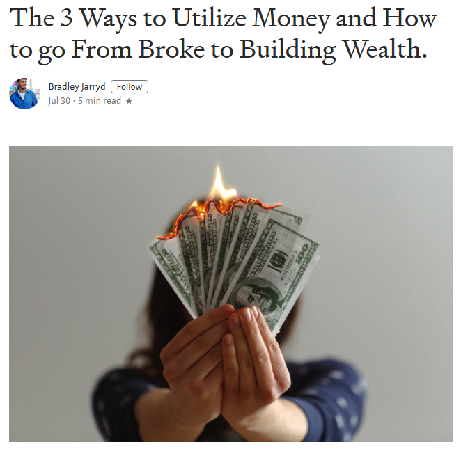 Click here     to use money the right way to build wealth.