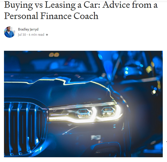 Click here     for clarity on buying versus leasing a car.