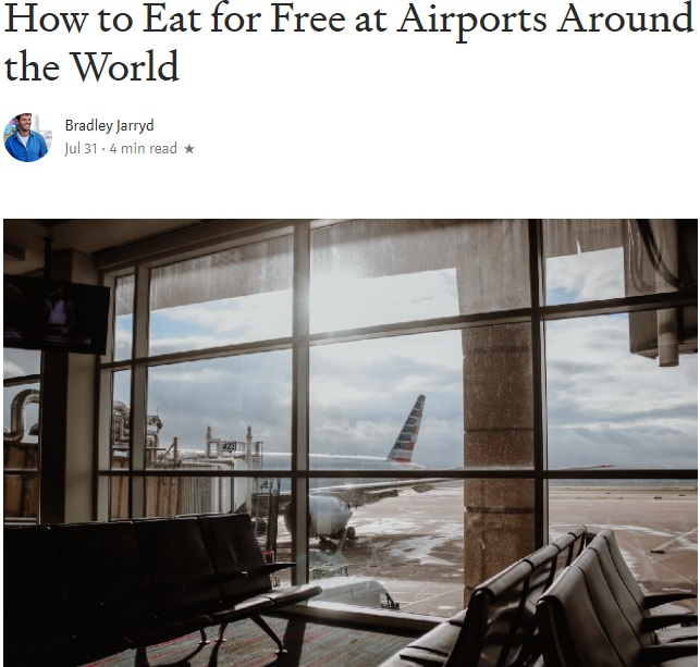 Click here     to start dining for free at airports around the world.