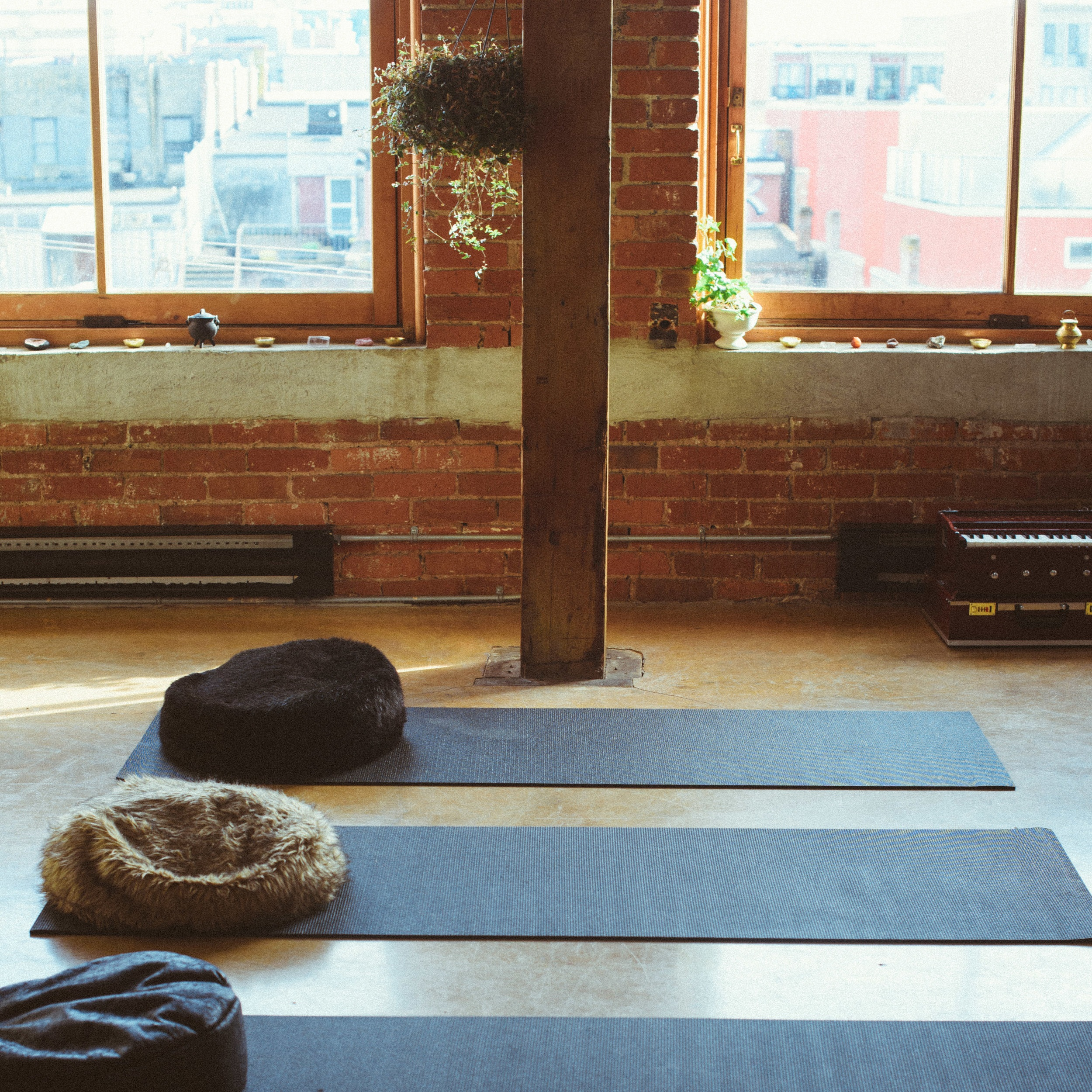 Yoga + Meditation - Our teachers offer their authentic practices and wisdom in yoga, meditation, spirituality and well-being. Our class size is only 7 people. Meaning you will get the semi-private attention you deserve to help cultivate your own personal sadhana (practice).