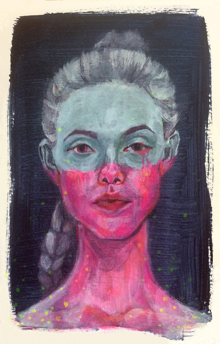 I just watched The Neon Demon. I only kind of liked the movie, but I thought the art direction was beautiful.