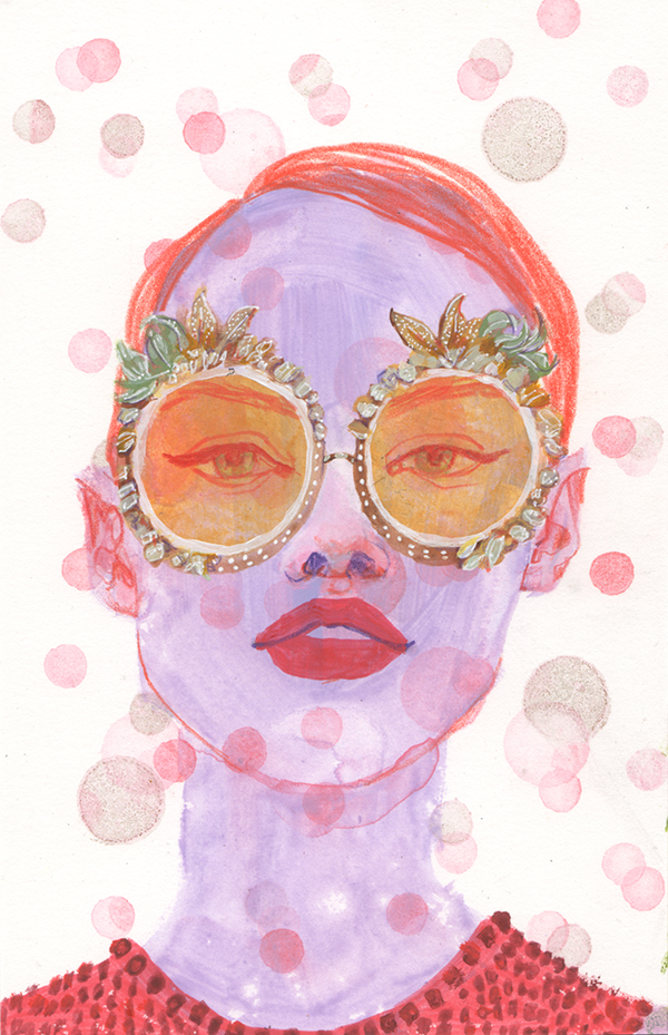 inspired by an amazing pair of sunglasses from Dolce & Gabbana's Spring/ Summer 2018 Ready to Wear line