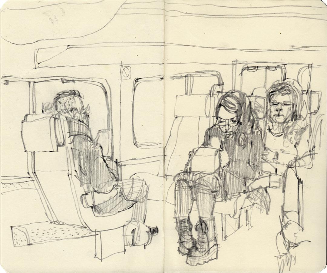Marc train - riding home from washington dc