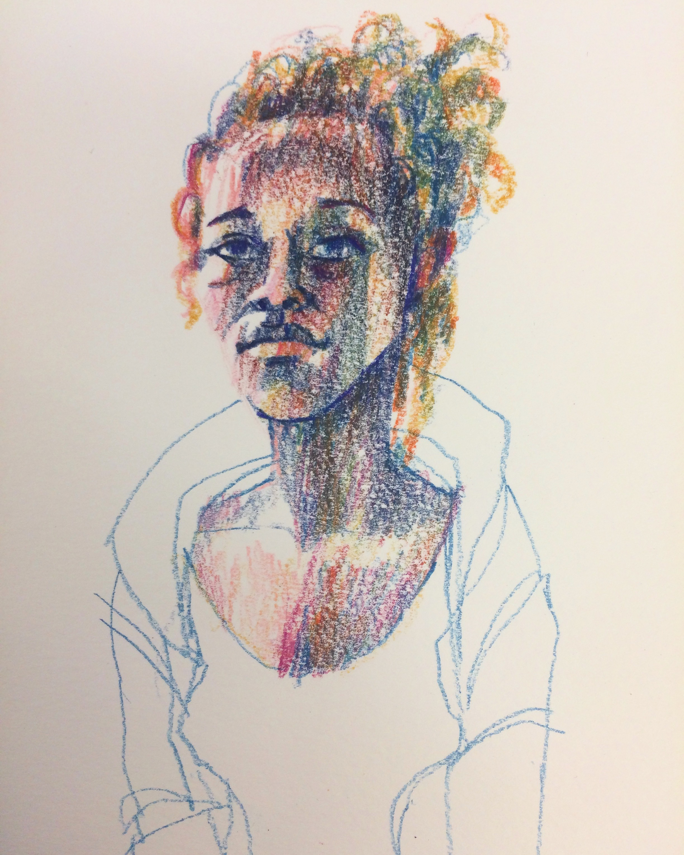 10 minute portrait model sketch