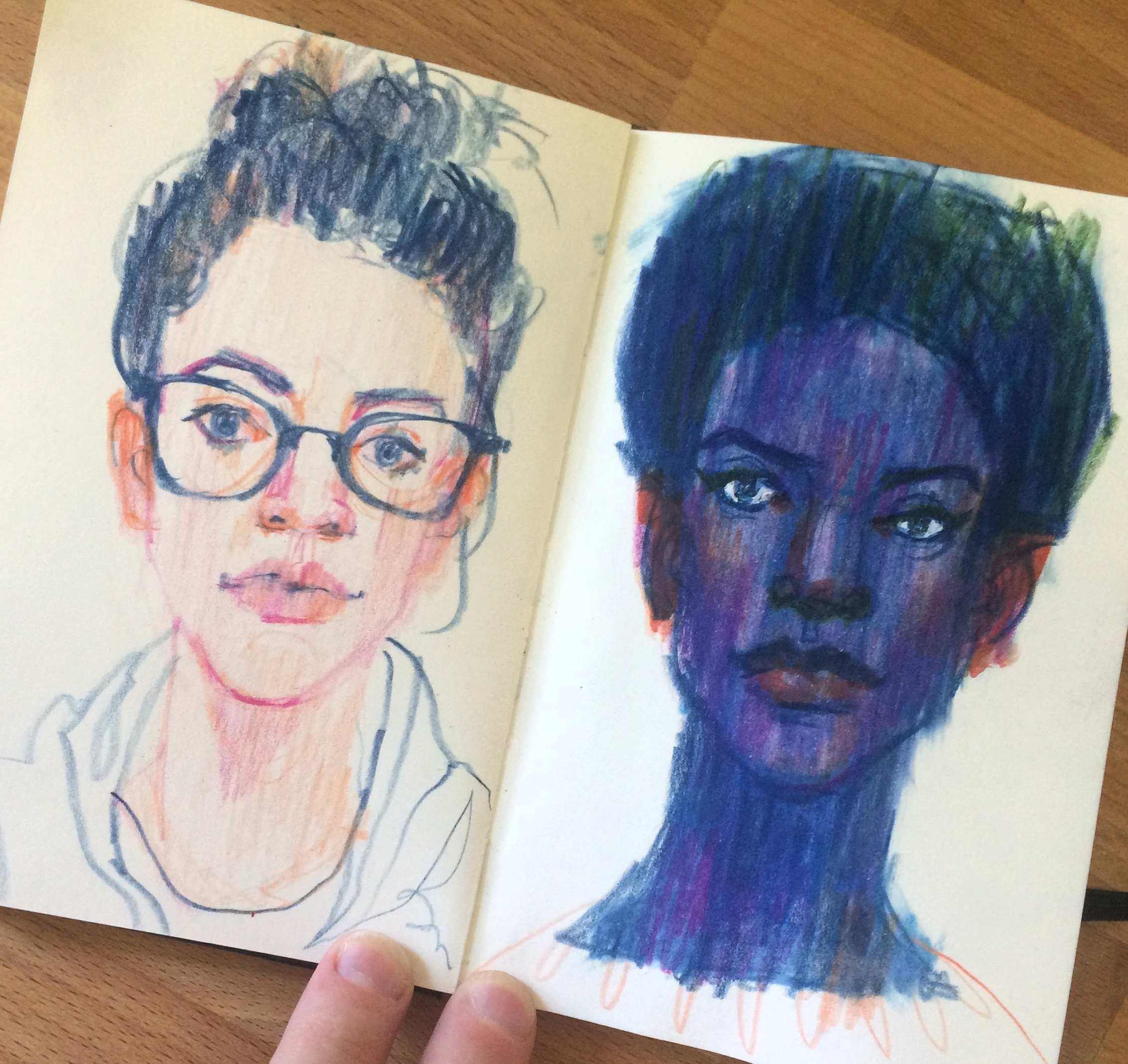 10 minute portrait warm-ups