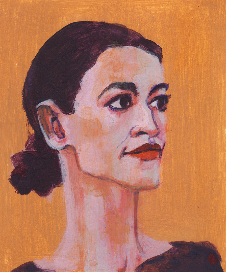 "Alexandria Ocasio-Cortez, the youngest woman ever elected to Congress. Part of a series of ""History Makers"" from the 2018 mid-term elections."
