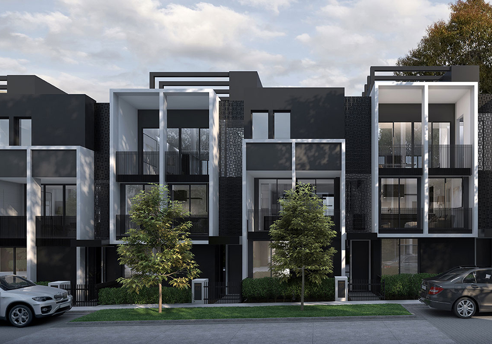 YarraBend Parkview Townhouse. Image courtesy of Glenvill.