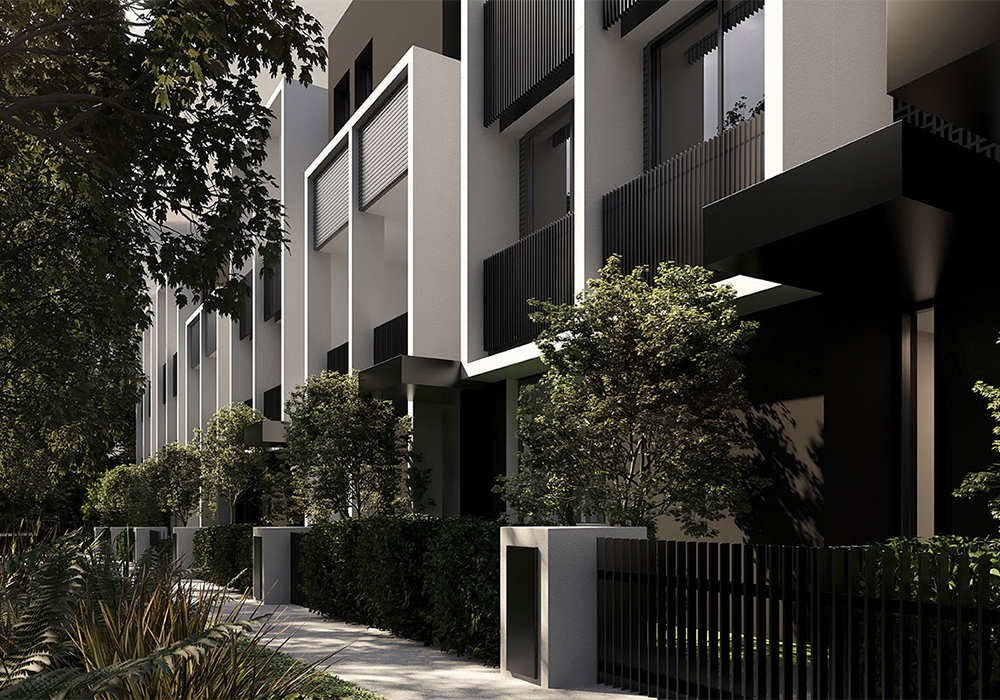 YarraBend Parkview Townhouses. Image courtesy of Glenvill.