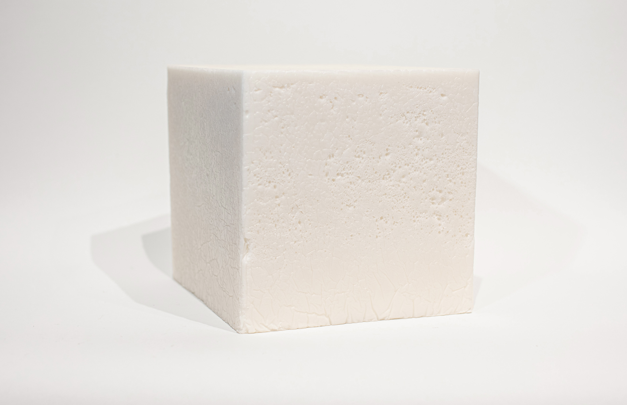 "Solid State   Enjoy Series  (2019) Beef Tallow, Paraffin Wax, Beeswax 8"" x 8"" x 8"""