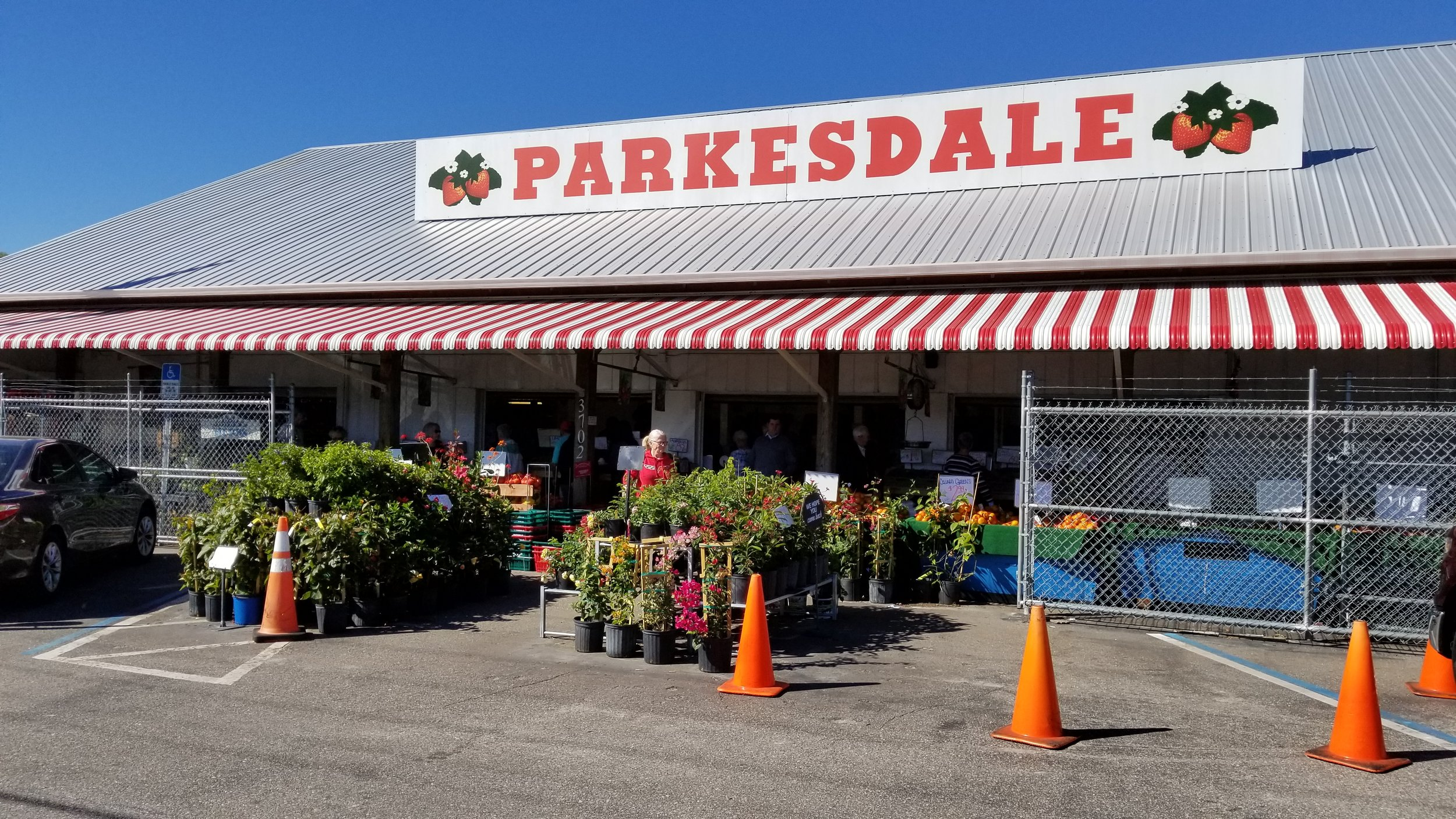 """""""Strawberries are king"""" at the Parkesdale Market in Plant City, Florida — the largest farmers' market in the state."""