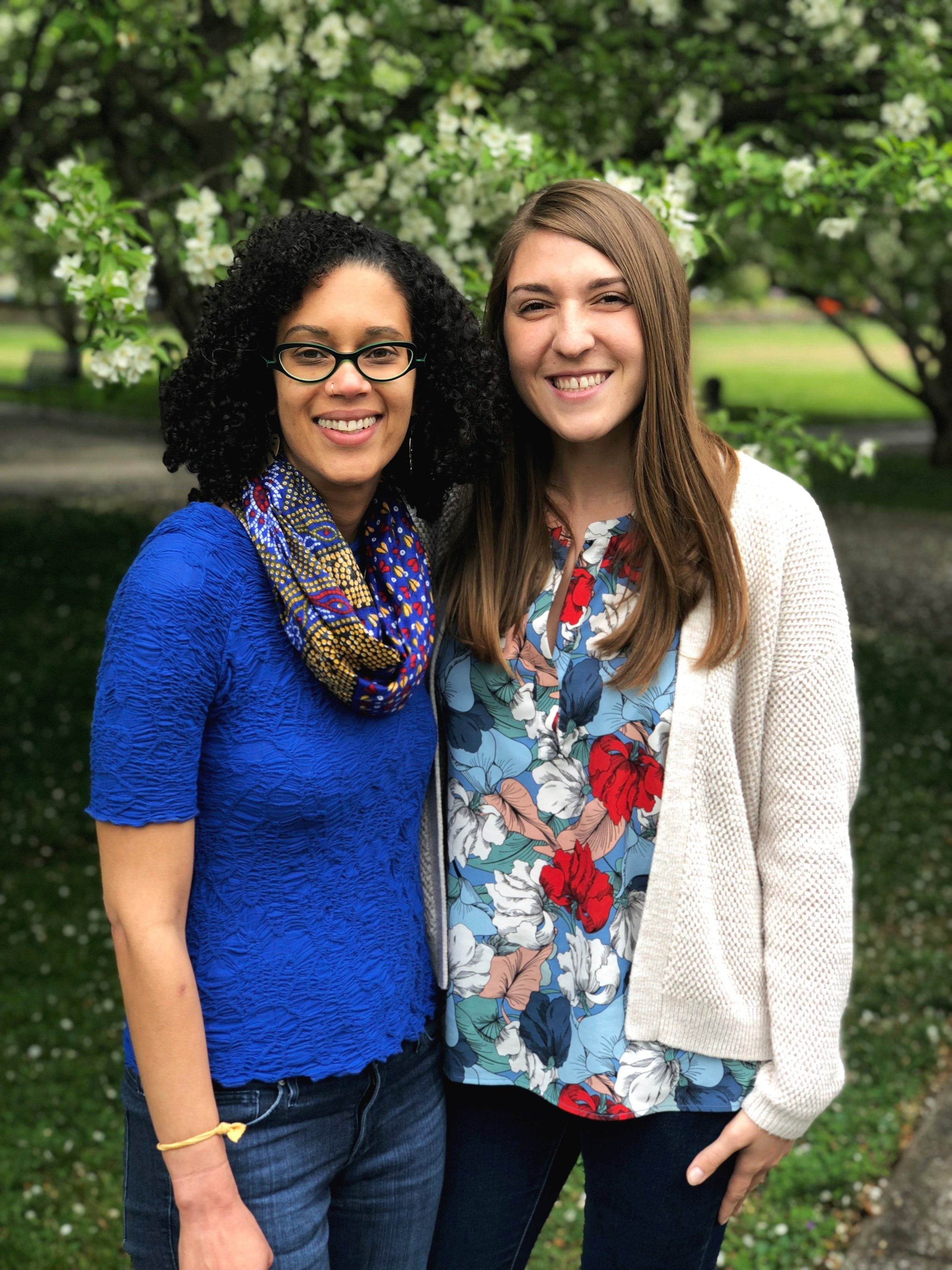 Small Business Coordinator Johnisha Levi (left) and Programs Coordinator Maria Marton are the newest staff members at the Nashville Farmers' Market.