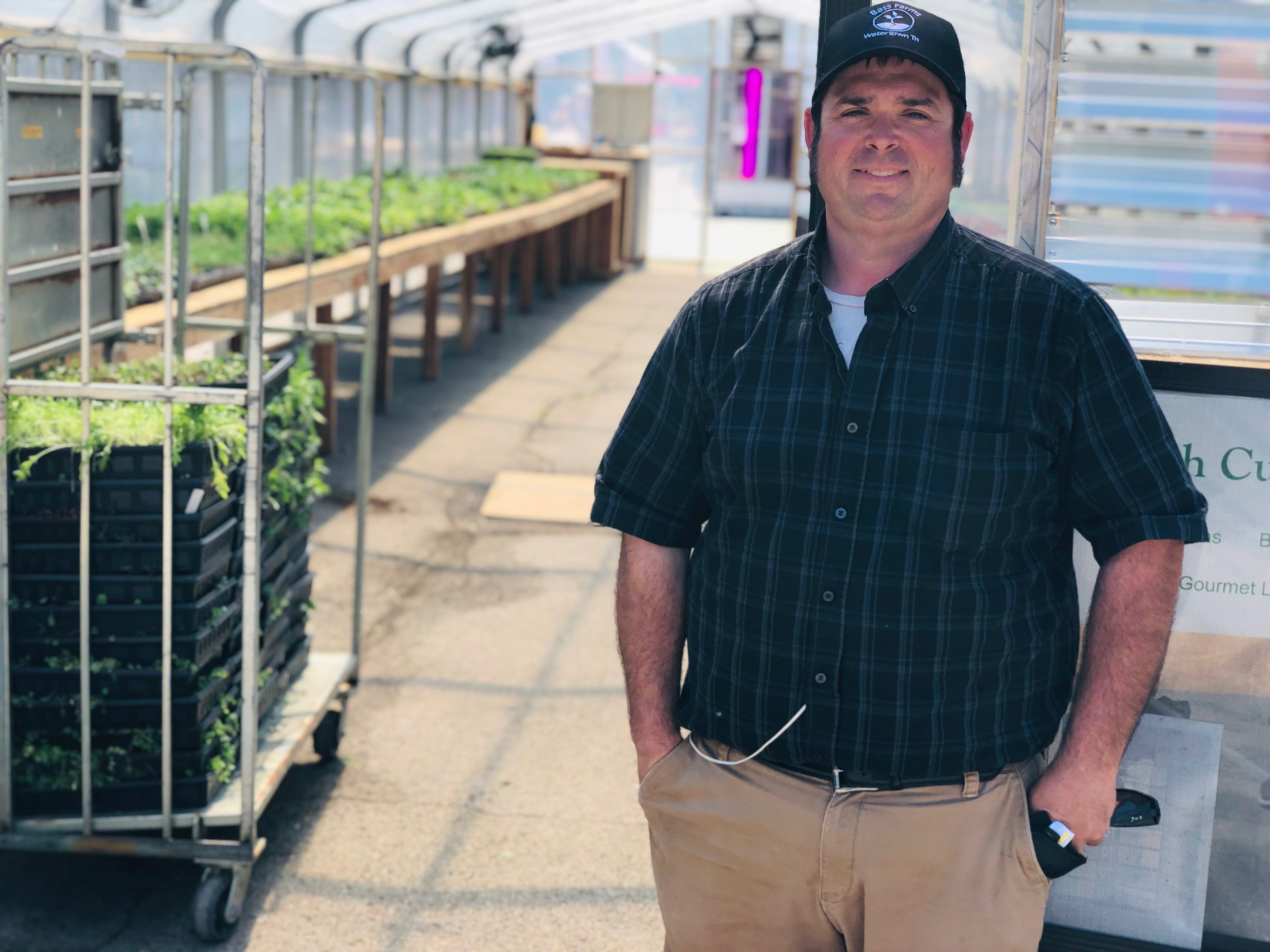 Before coming to the Nashville Farmers' Market, Matthew Bass was selling about 20 trays of micro greens per month. Today he's selling about 250-300 trays per week.