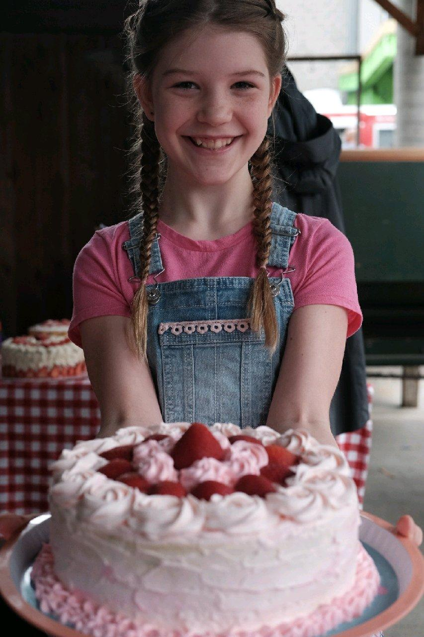 "Ava's winning entry was praised for its ""heavenly"" strawberry scent, moist texture and color."