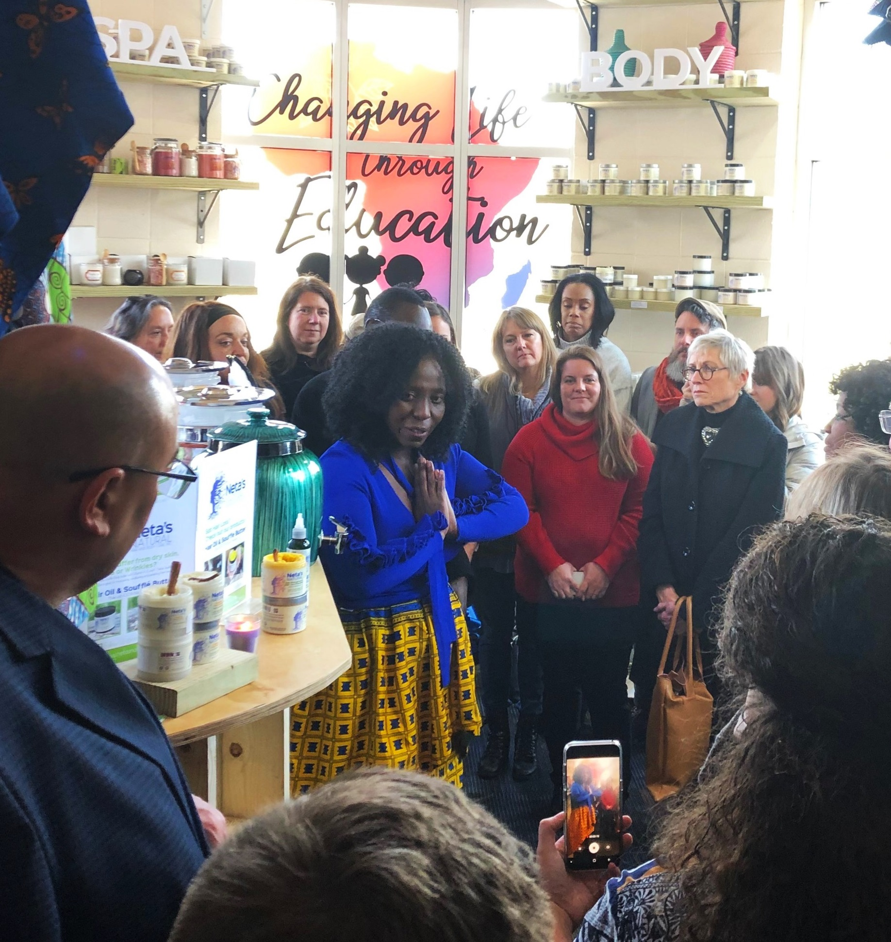 Martha (center) opened her new store inside the NFM Market House to great acclaim in January.