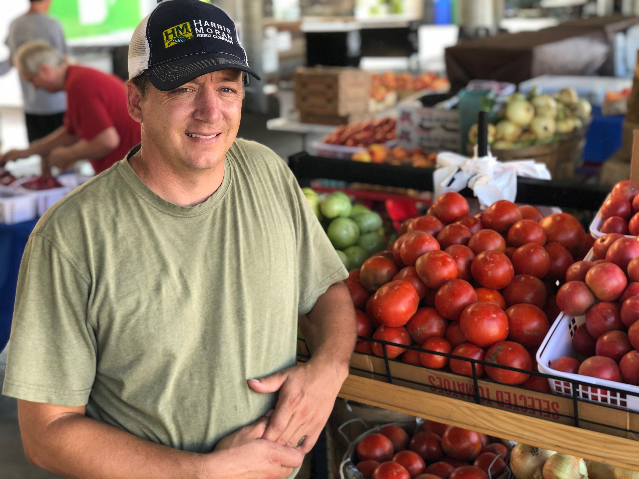 "Matthew Hancock raises 10 crops on his farm north of Nashville, nearly all of which are seasonally available at the Nashville Farmers' Market. ""Don't put all your eggs in one basket,"" he quips."