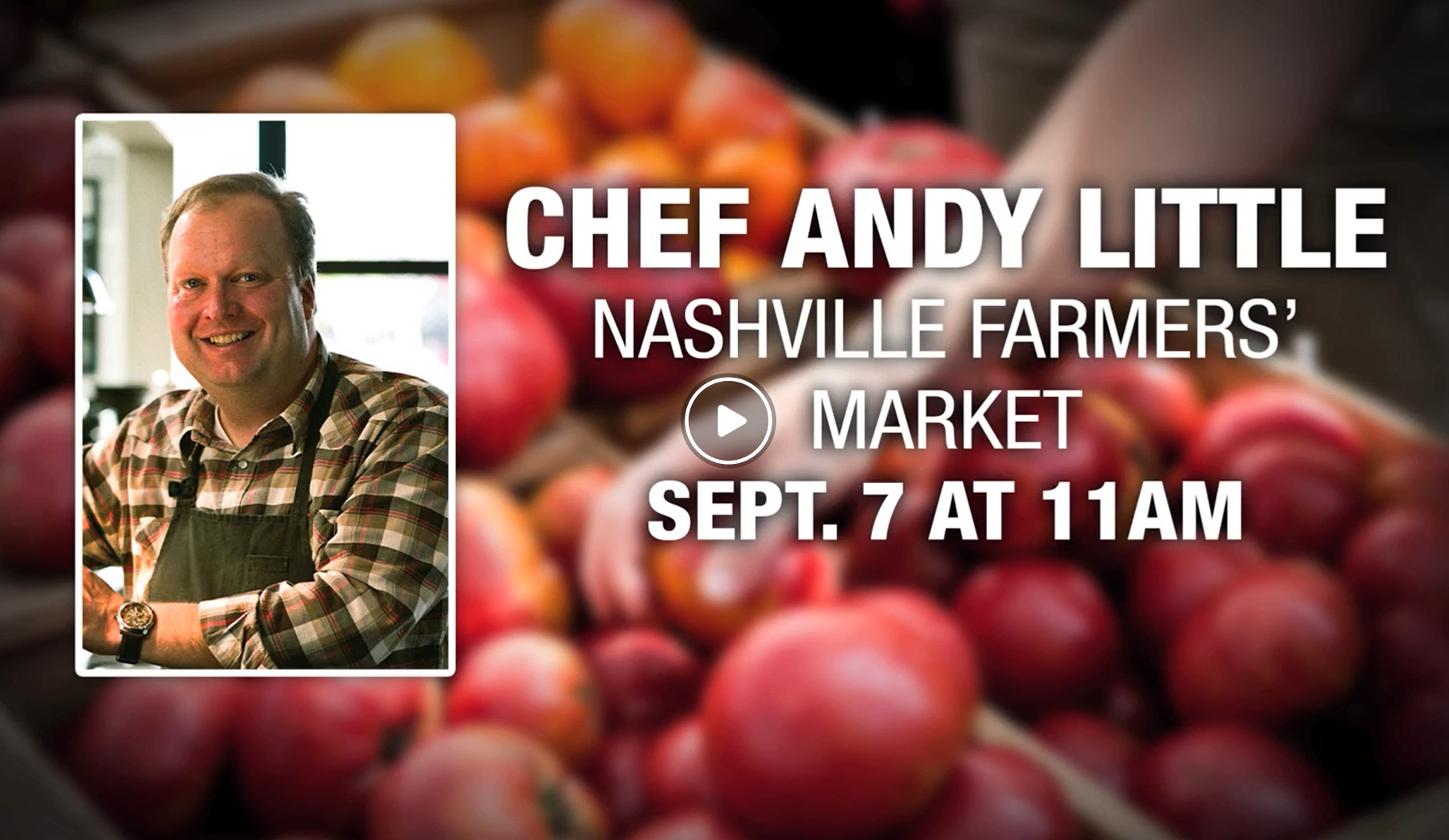 "Watch Chef Andy Little plug the International Garlic and Pepper Fest during his recent appearance on "" Today in Nashville ."""