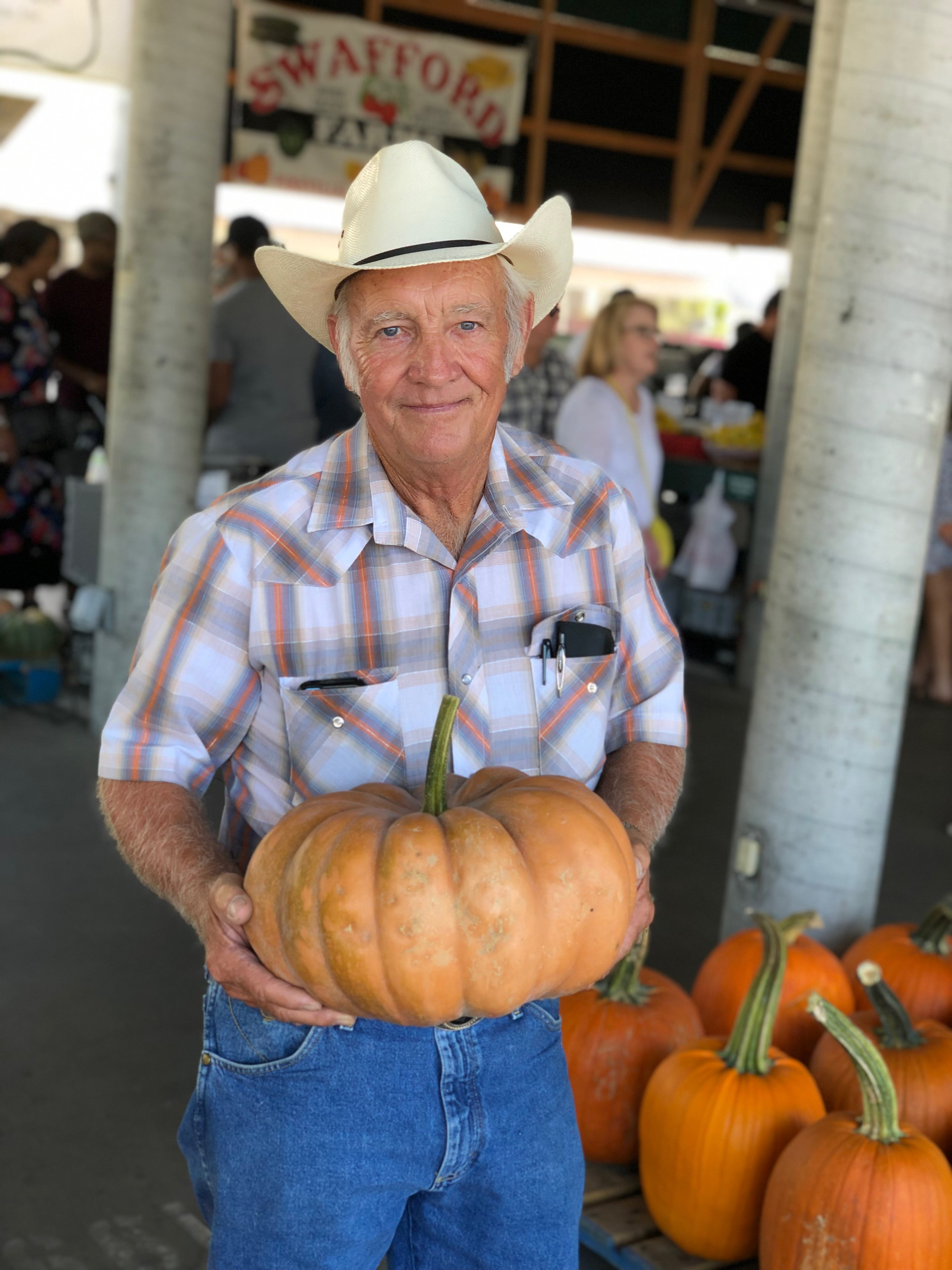 Grady Swafford of Swafford Farms has been bringing pumpkins to NFM for some 30 years. This Saturday's Pumpkinfest will be your last chance to catch him — and his beautiful produce — until he returns with his crew to the Market next spring.