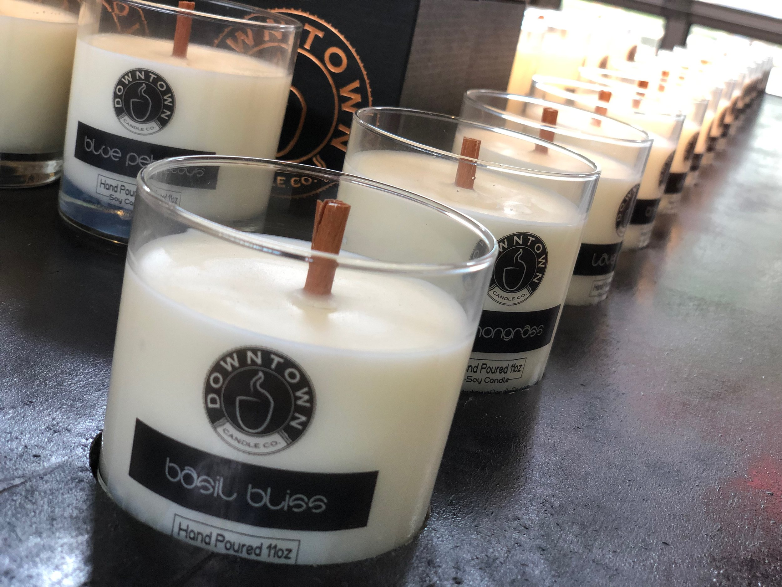 Pick your flavor. Downtown Candle is located at the Nashville Farmers' Market on the eastern side of the Market House, between Fountain of Juice and Bubble Love.