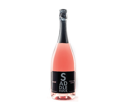 NV Saddlerock Sparkling Rosé- North Coast   A fresh and crisp profile of wild strawberry, watermelon, and cherry on the palate with fragrant aromas of rose petals and raspberry.