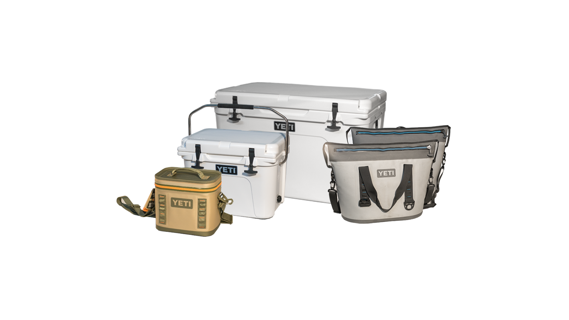 YETI COOLERS - YETI COOLERS.BBR has any cooler you'd need for a day on the river or a week. Our stock includes the Yeti 110, 105,65, 55, 45, Roadie 20, Hopper 40 & 30, Flip 12 & 8. Prices vary, please inquire about specifics.