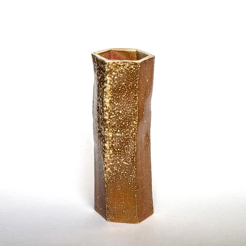 Woodfired Hexagonal Vase  2017  Ceramic 32cm  $75