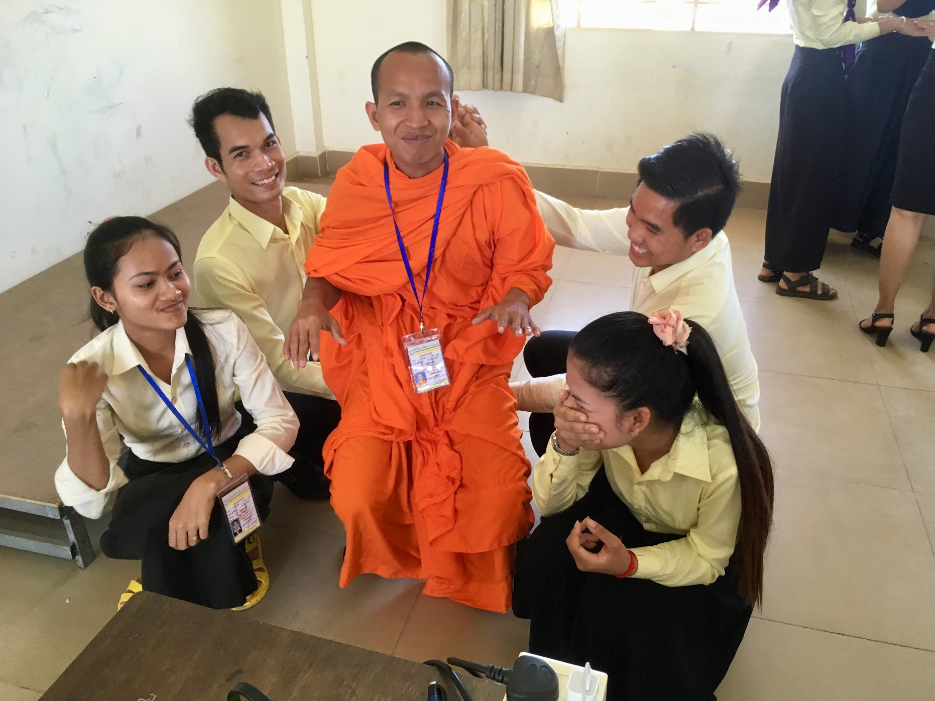 "- Photo left: TESOL Candidates in Kampot, Cambodia, create a ""chair"" as part of a workshop series ""Engaging Activities for Young Learners"" July 2019UpdatesLatest Update: September 7, 2019 Degrees of Emotion Scene Creation. https://www.richardsilberg.com/degrees-of-emotions-scene-creationPrevious UpdatesAugust 28, 2019: Go, Stop, Hands, Knees…https://www.richardsilberg.com/go-stop-hands-knees-May 19, 2019: Sentence Patterns with Story Cards. https://www.richardsilberg.com/sentence-pattern-with-story-cardsLink to power point of TESOL March 2019 Presentation on English Language Teaching and Drama:Using Drama to Access Text and Vocabularyhttps://1drv.ms/p/s!Aqmvk4LIG616d7hjO_tWpsulS2o (no video)or link to my dropbox—here you should be able to download the full version including video.www.dropbox.com/s/fs5fp1rn6kpdrke/TESOL%20Atlanta%202019.final%20presentation.pptx?dl=0Click here to see a video of my newcomer student's (grades 7-8) shadow theatre production. https://www.youtube.com/watch?v=wFtirqs3clI&t=1sHi, I'm Richard, an English Language Learner and drama teacher based in a grade 6-8 public school in Berkeley, California. I am a former English Language Fellow with the U.S. Department of State in Cambodia where I trained and continue to mentor novice and experienced teachers in various aspects of English Language Teaching methodology and strategies. I have just finished (July 2019) a series of TEYL trainings for primary teachers and teacher candidates throughout Cambodia as an English Language Specialist with the U.S. Department of State's English Language Programs. I also teach English through Drama to High School students in Nansha, China, as a guest Teacher Consultant with the University of California's Bay Area Writing Project. On this website I share drama based activities and lessons that I have used to introduce, develop and extend English language capacity for all levels of students. I provide video examples of students engaged in the activities where possible. Click on the"