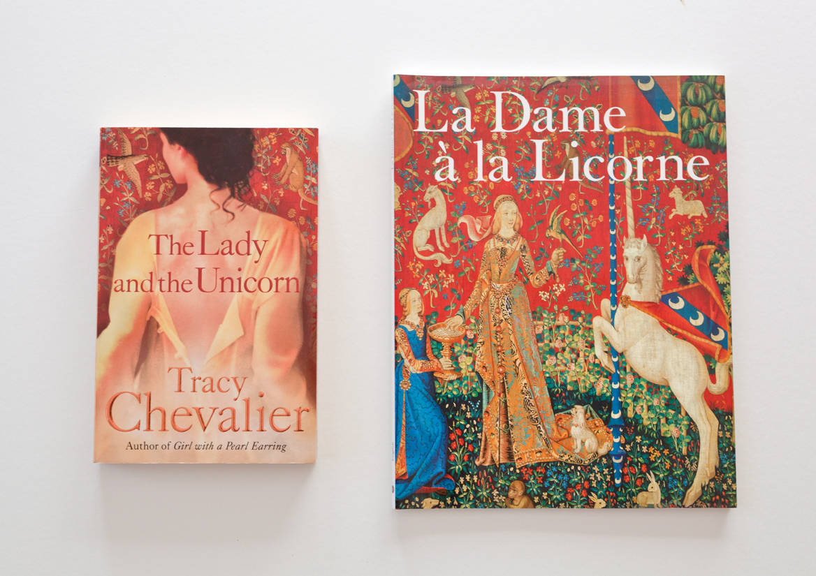 I've been lucky enough to see the Lady and the Unicorn tapestries twice, once in Paris, and then when they visited Sydney. They are fascinating in themselves, being so beautiful and intricate, but I know my original interest was sparked by reading Tracy Chevalier's novel.