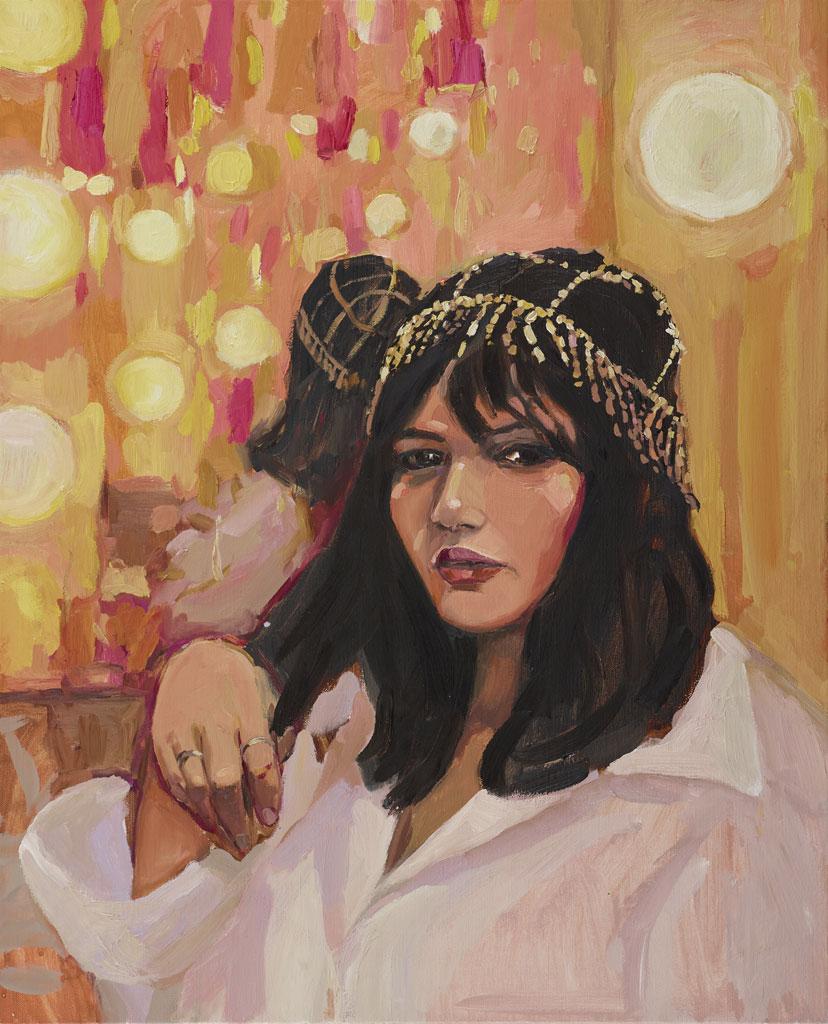 """""""Nakkiah in her dressing room"""" by Laura Jones"""