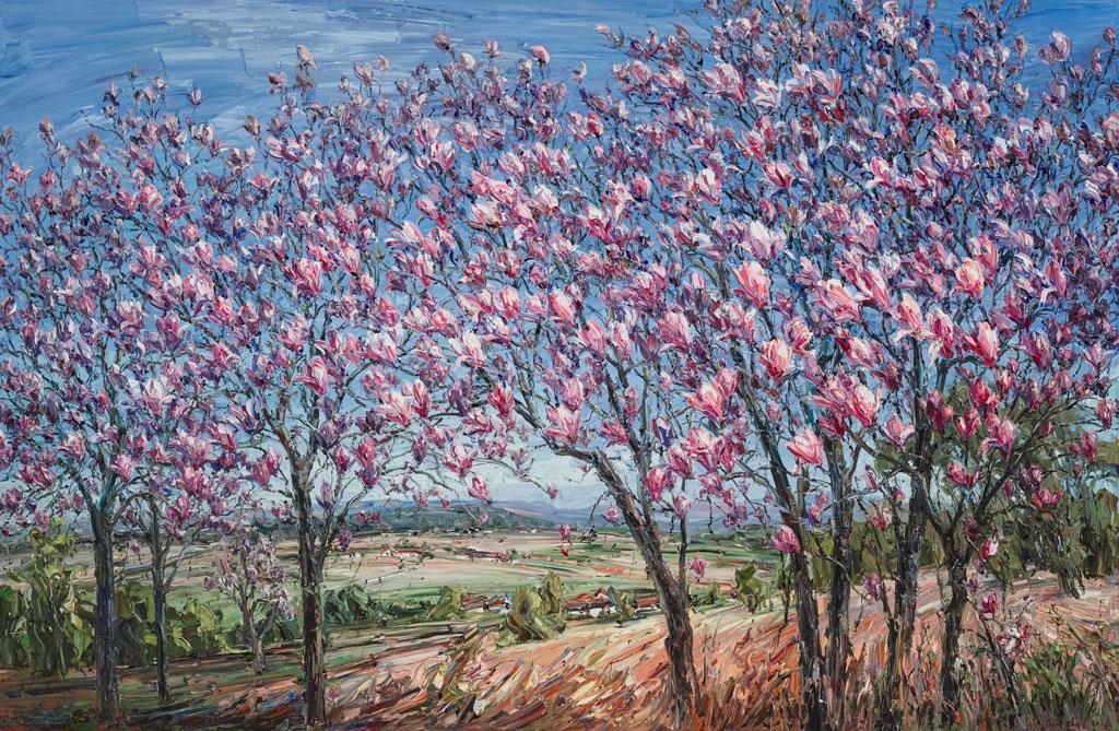 """""""Magnolia trees"""" by Jun Chen"""