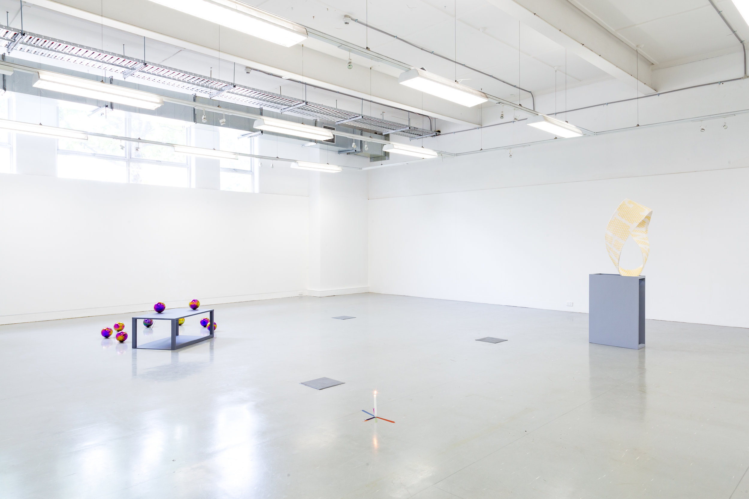 Figure in the Round  (exhibition installation shot), Andrew Atchison, 2018, mixed media installation, dimensions variable.