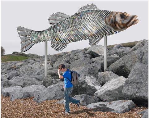 artist impression of the big fish insitu - Rafael klein