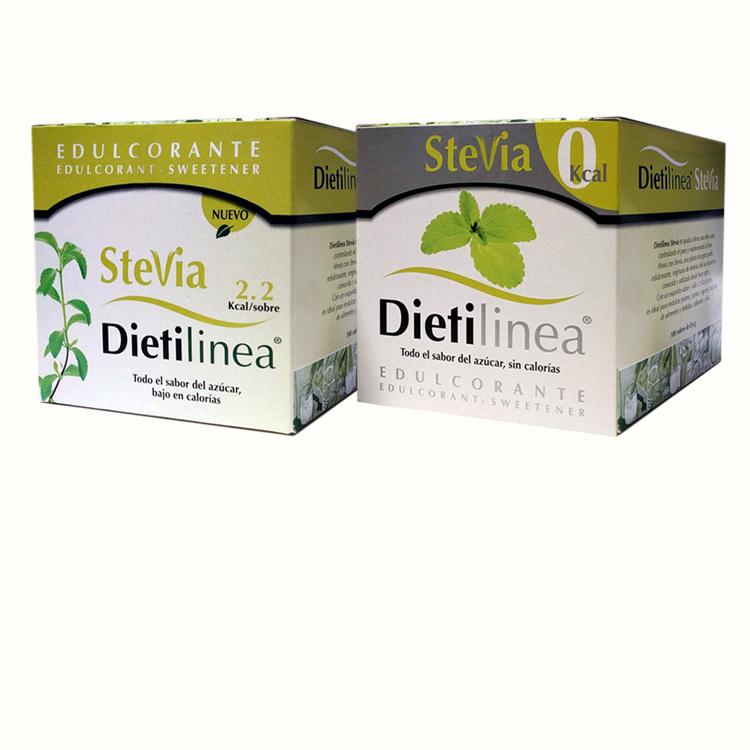 Estevia - Edulcorante elaborado en base a la planta estevia. Una planta endulzante que proporciona todo el sabor del azúcar pero de manera natural.Caja display 100 unidades.