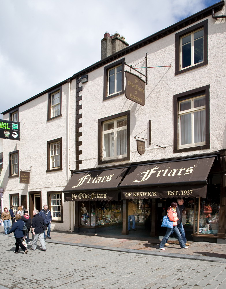 Friars of Keswick    Friars is a family business specialising in luxury chocolate and unique gifts since 1927. Our gifts are designed in-house so you will not find them anywhere else. We want to make it easy for you to be original, so you can give gifts that taste and look amazing and will be remembered. We love new products (perhaps because we get bored easily!), so every Valentine's Day, Easter, Summer, Halloween and Christmas we launch a new range.  6–8 Market Square, Keswick, CA12 5JD  017687 72234
