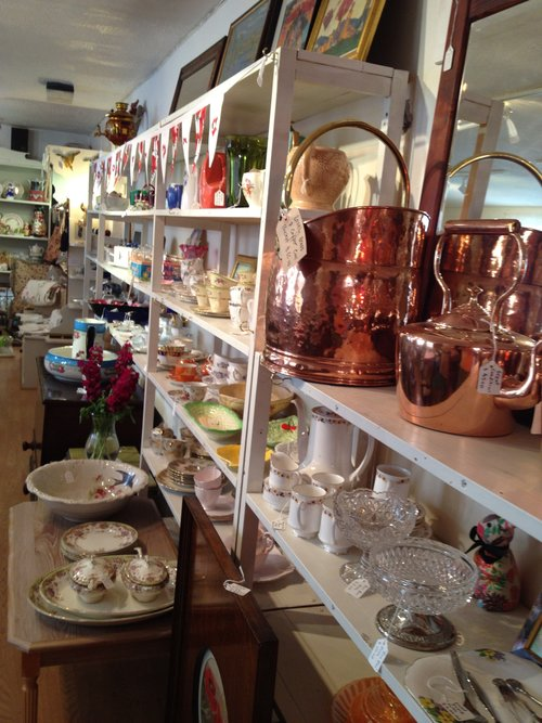 Vintage @ Maysons   Crammed with quality vintage goods — porcelain, glass, brass, linen, textiles, pictures, vinyl, annuals, toys, cycling shirts etc. plus iconic names like Clarice Cliff, Babycham, Subbuteo and other original retro items, including a special Keswick section with Beatrix Potter. Open seven days a week @ 33 Lake Road (just past George Fisher). Special Keswick Convention offer — 20% off all items. Just say you're attending the Convention.  33 Lake Rd, Keswick, CA12 5DQ  017687 71186
