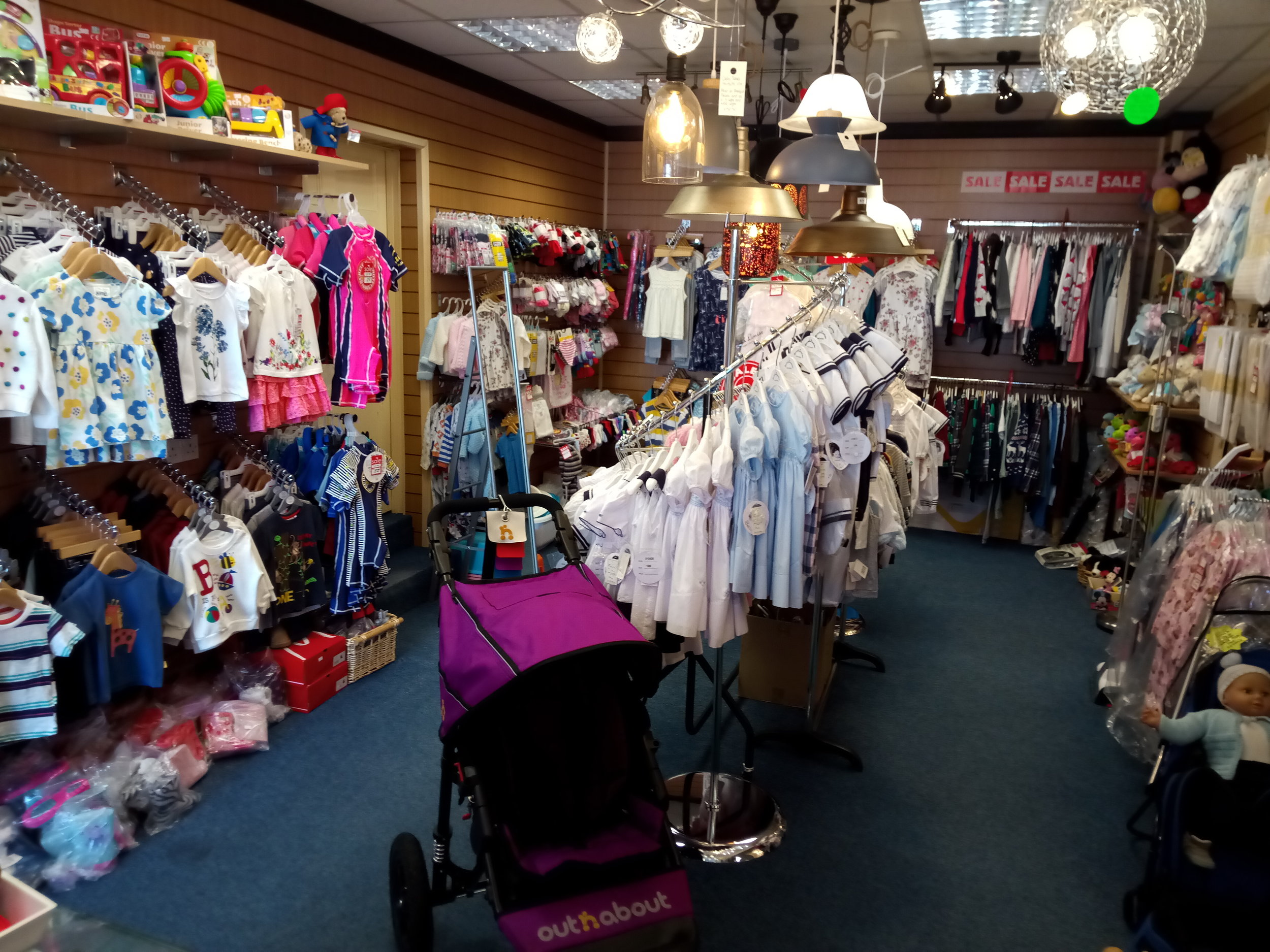 Kiddiewinks   Kiddiewinks sells children's clothing from newborn to 8 years, with prices ranging from £4.00 for basic T-shirts and leggings and £5.00 dresses. We also stock organic clothing from Kite as well as the essentials like socks and underwear. We hire out all terrain pushchairs, backpacks, travel cots and highchairs.  11 St Johns Street, Keswick, CA12 5AP  017687 71358