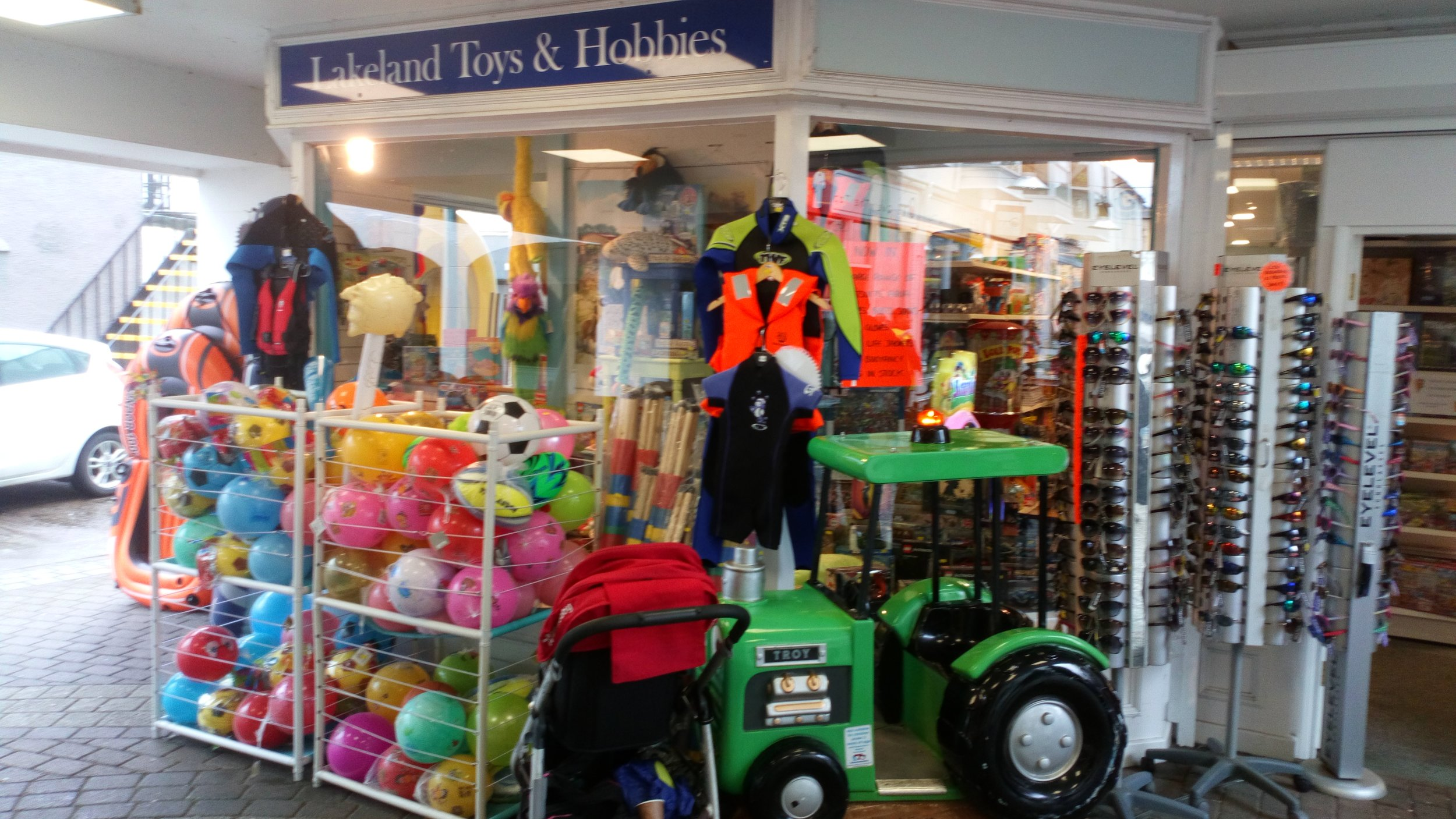 Lakeland Toys    Lakeland Toys and Hobbies specialise in toys and games to satisfy every taste and price range. An extensive range of board and card games, Lego for every taste, building kits and children's dressing up outfits, to sports and outdoor play equipment, we have something for every interest. Alongside our range of new clearance shooting and hunting clothing from brands such as Deerhunter, Ridgeline, Seeland, Jack Pyke, Percussion and more. Our shop is well worth a visit as you wander around the streets of one of the country's most famous tourist venues enjoying your holidays.  10 Museum Place, Keswick, CA12 5DZ  017687 75275