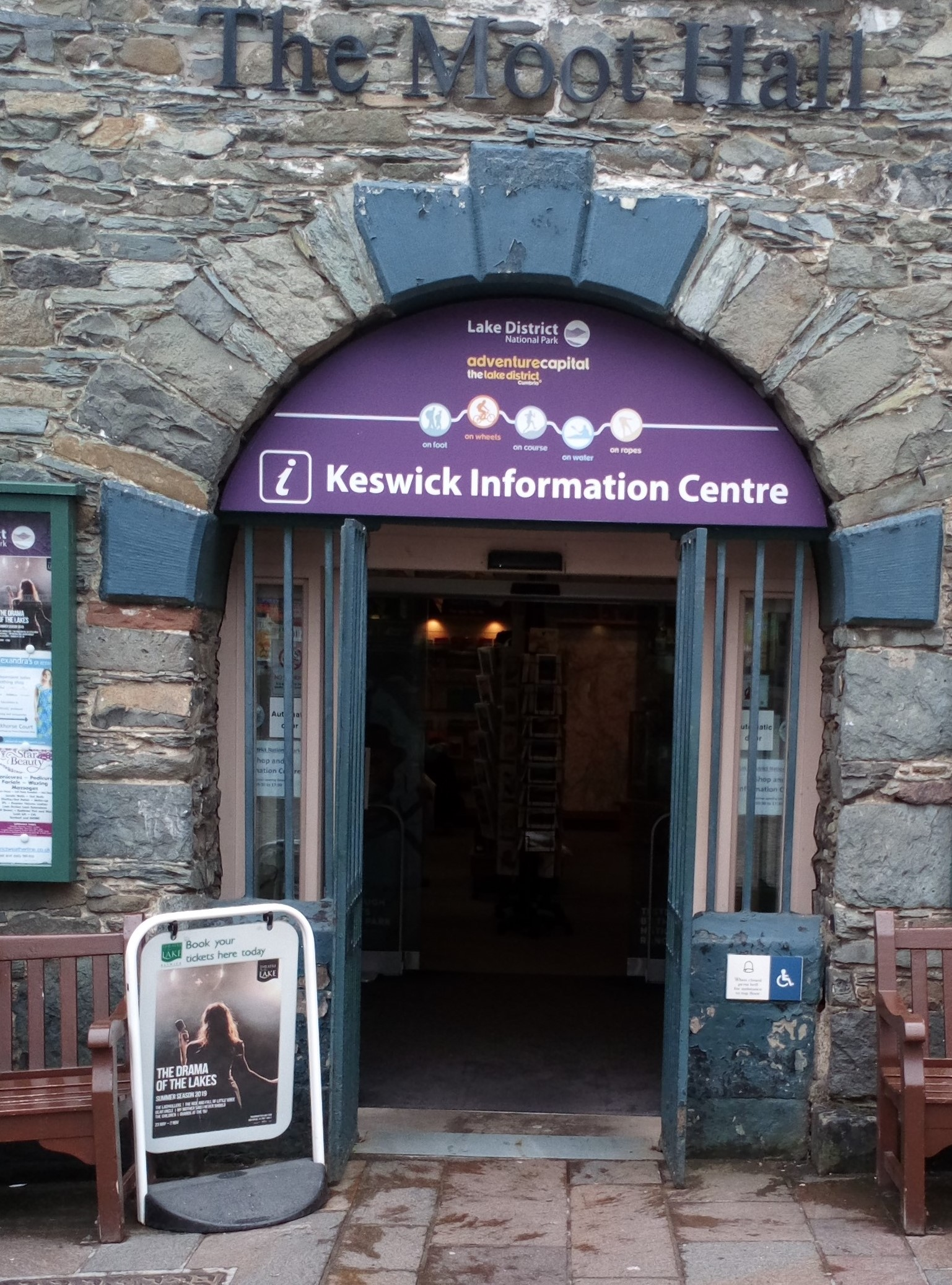 Keswick Tourist Information Centre   The Keswick Tourist Information Centre provides information on what to see and do, entertainments and events, places of interest, travel and transport, and where to stay. It also has information on local accommodation.  The TIC is also a Friend of Keswick and supports the Lake District Pound.  Moot Hall, Keswick, CA12 5JR  0845 901 0845 (calls cost 2p per minute plus your phone company's access charge)