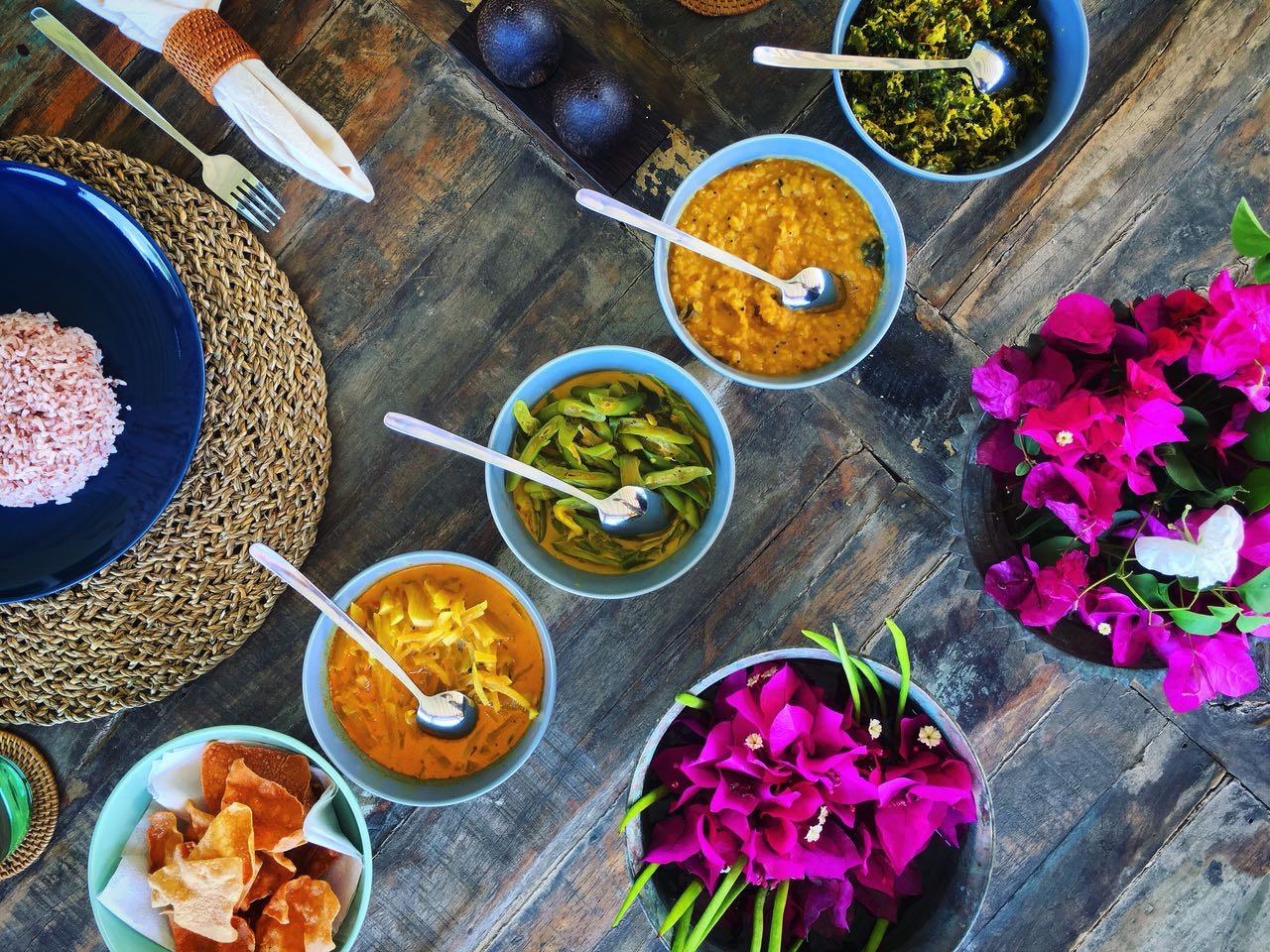 sri lankan vegan curry vegetable yoga retreat