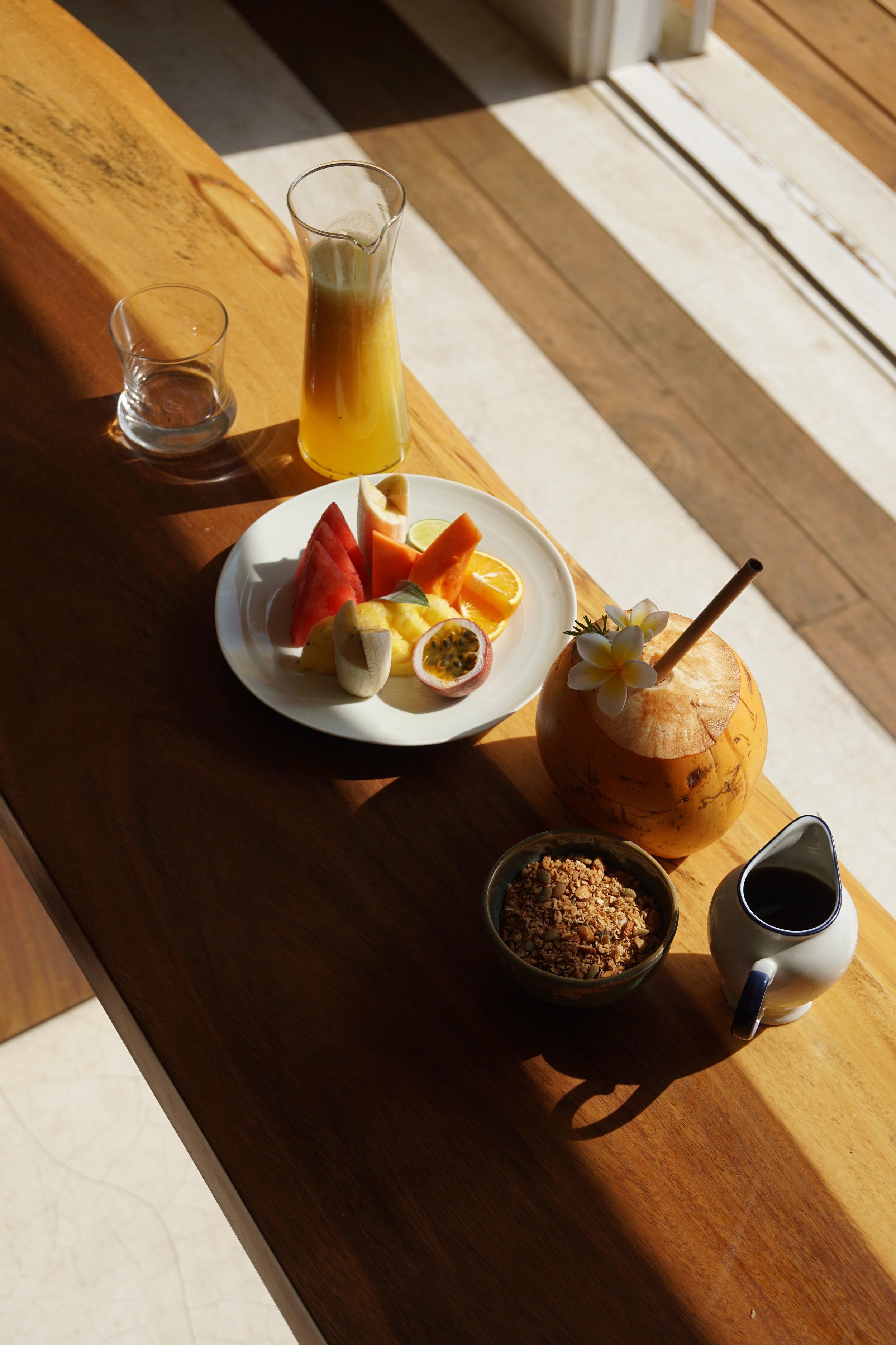 breakfast yoga sri lanka coconut fresh yoga retreat ayurveda