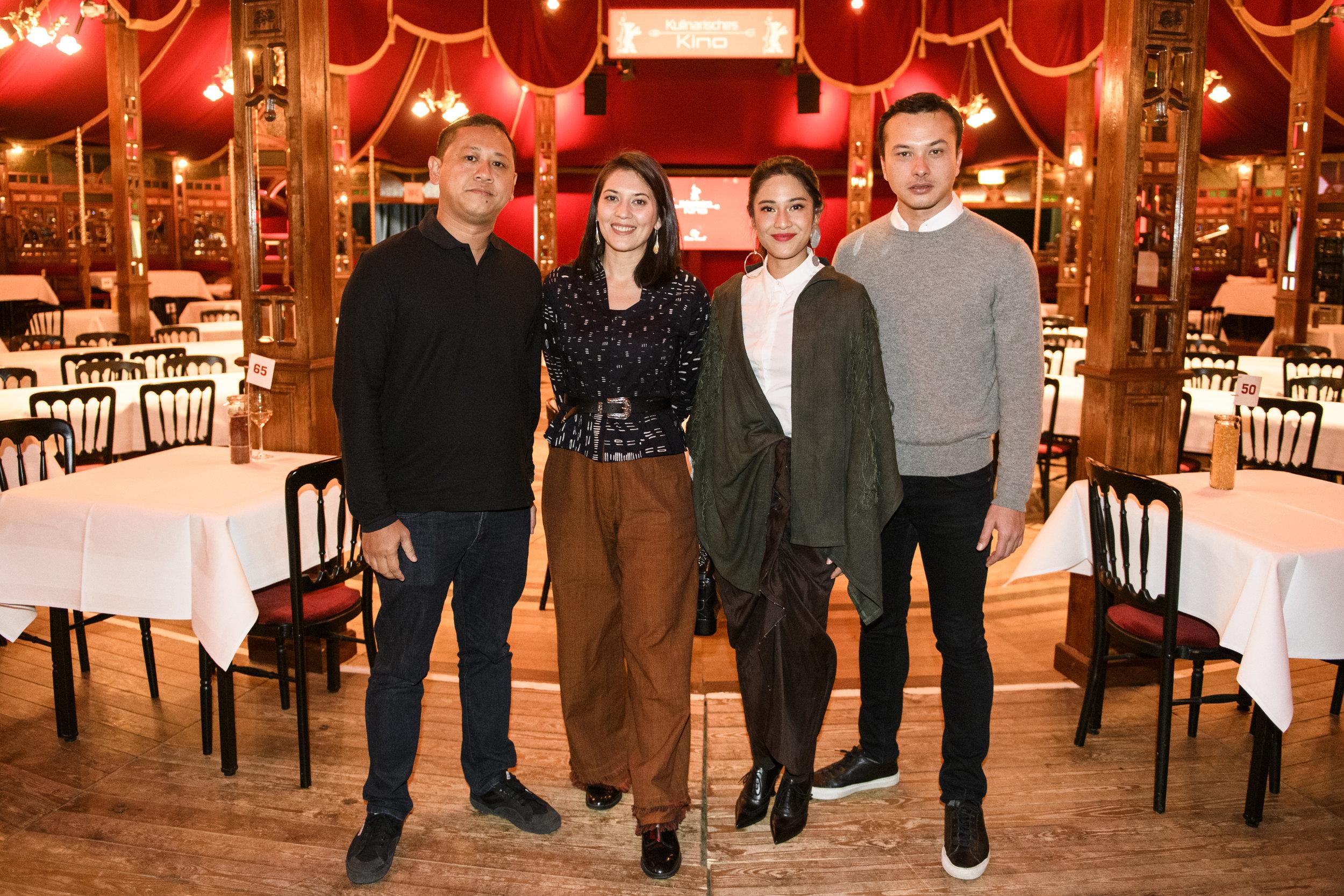 Edwin, Hannah Al Rashid, Dian Sastrowardoyo and Nicholas Saputra (left to right) at the pop-up restaurant. Photo courtesy of Berlinale/ Piero Chiusi
