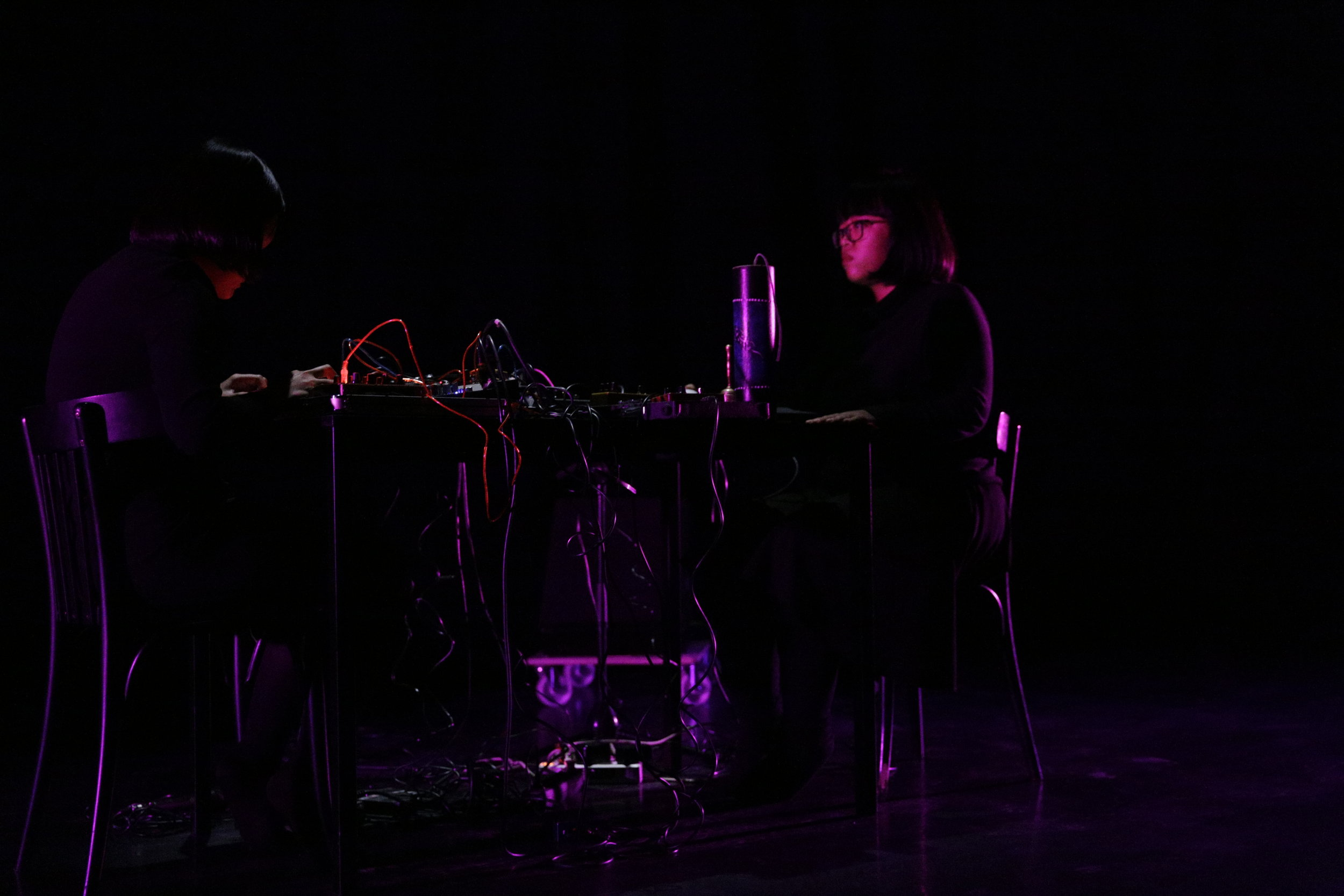 Sarana performs at the CTM Festival in Berlin. Photo courtesy of Stefanie Kulisch/ CTM 2019