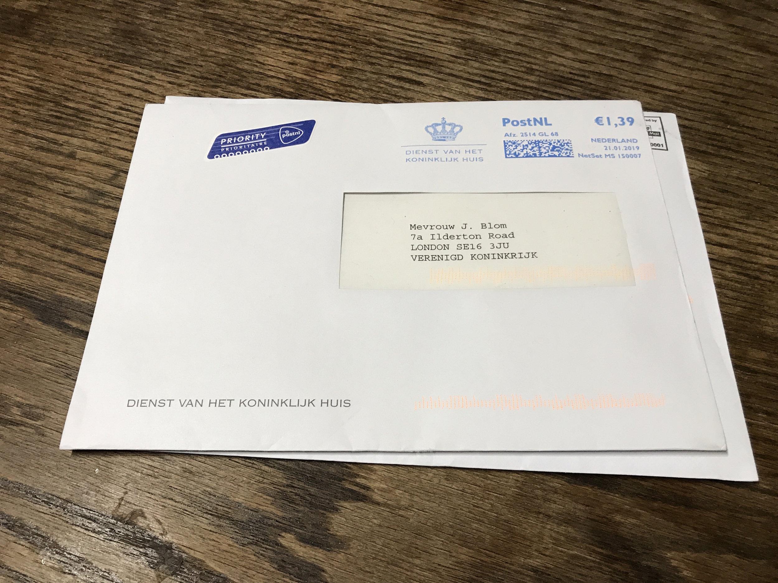 He wrote back. -