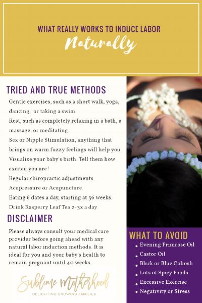 natural childbirth preparation methods